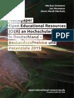Whitepaper OER Hochschule 2015