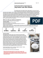 Balancing Center Lock Wire Wheels