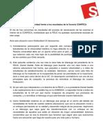 Declaración Solidaridad frente a los resultados de la Vocería CONFECh
