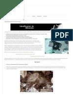 Identificación de Minerales – Geospectra