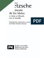 Nietzsche - Como el mundo verdadero termino convirtiendose en una fabula Historia de un error.pdf