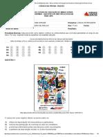 Avaliação Contínua -7 Ano Questões de Múltipla Escolha - Banco de Itens de Avaliação Da Secretaria de Educação de Minas Gerais