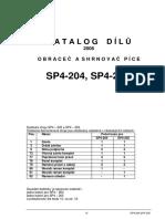 Obraceč a Shrnovač Píce SP4-204.205 - Katalog ND