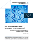 How Will Be the New Financial Landscape to Water Management