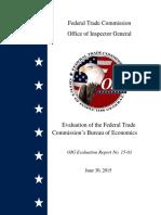 Evaluation of the Federal Trade Commission's Bureau of Economics