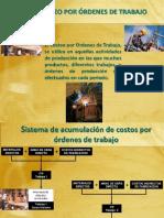 CosteCOSTEO POR ORDENES DE PRODUCCIONo Por Ordenes de Produccion