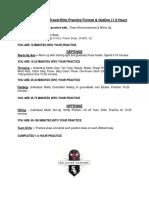 White Sox Practice Plan 13-15 and Travel-Elite