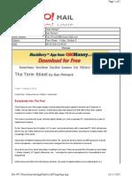 10-08-2010 Term Sheet -- Friday, October 812