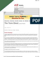 10-05-2010 Term Sheet - - Tuesday, October 515
