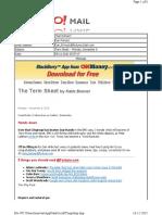 11-08-2010 Term Sheet -- Monday, November 843