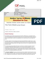 10-27-2010 Term Sheet -- Wednesday, October 2750
