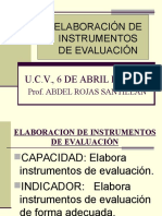 Elaboración Instrumentos de Evaluación