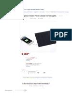 Panel_cargador Solar Para Celular O Gadgets. - $ 359