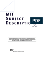 MIT Subjects 15 16-A