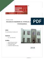Facultad de Ingenieria de Petroleo,Gas Natural y Petroquímica