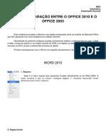 Comparação Office 2010