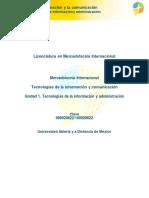 U1. Tecnologias de La Informacion y Administracion