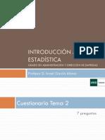 Introducción a la Estadística - ADE - Tema 3 UNED