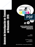Avances de investigación en comunicación en Venezuela - 2015