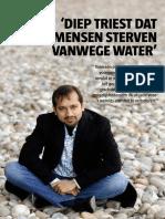 Diep triest dat mensen sterven vanwege water