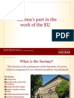 Saeima's part in the work of the EU