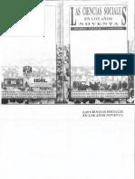 Las Ciencias Sociales en Los Años Noventa - Ricardo Pozas H