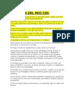 Resumen Del Mio Cid