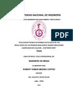 EVALUACIÓN TÉCNICO-ECONÓMICA-ECOLÓGICA DE LOS RESULTADOS DE LAS PRUEBAS REALIZADAS USANDO EMULSIONES GASIFICADAS EN CUAJONE – SOUTHERN PERU