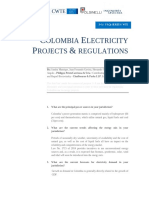 Colombia Electricity Projects & Regulations