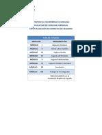 Plan de Estudios Especialización en Derecho de Seguros