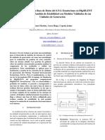 Estructuración de una Base de Datos del S.N.I. Ecuatoriano en DIgSILENT PowerFactory para Análisis de Estabilidad con Modelos Validados de sus Unidades de Generación