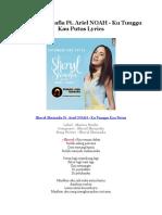 Sheryl Sheinafia Ft. Ariel NOAH - Ku Tunggu Kau Putus Lyrics
