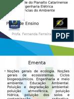 Aula 0 - Plano de Ensino Ciencias Do Ambiente