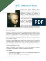 Biografía Immanuel Kant