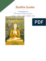 101 Buddha Quates