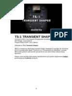 Audiority TS1 TransientShaper Manual