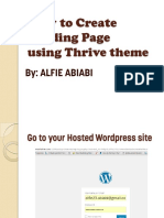 How to Create Landing Page Using Thrive Theme