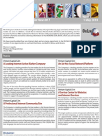 ON LINE M&A Newsletter 7 - May2010