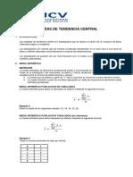 Teoría Medidas de Centralizacion