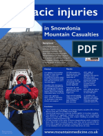 Thoracic injuries in Snowdonia Mountain casualties