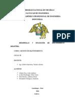 Tipos , Modelos y Procesos de Mantenimiento
