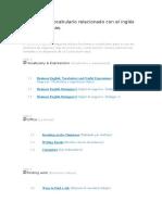Lecciones y Vocabulario Relacionado Con El Inglés en Las Empresas