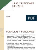 Formulas y Funciones en Excel 2013