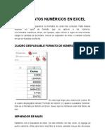 Los Formatos Numéricos en Excel