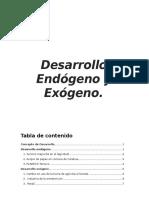 Desarrollo Endógeno y Exógeno