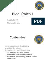 Bioquímica I - Clase 1.1 Introduccion Bioquímica
