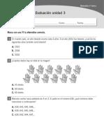 Evaluación Unidad 3 Santillana Matematicas Tercero Basico