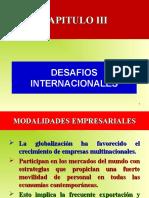 CAP. III DESAF+ìOS INTERNACIONALES