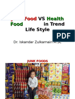 Junk Food vs Health Food in Trend Life-dr.iskandar