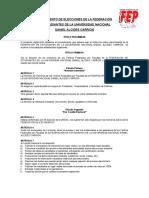 Reglamento elecciones federación